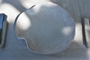 Large abstract leaf bowl