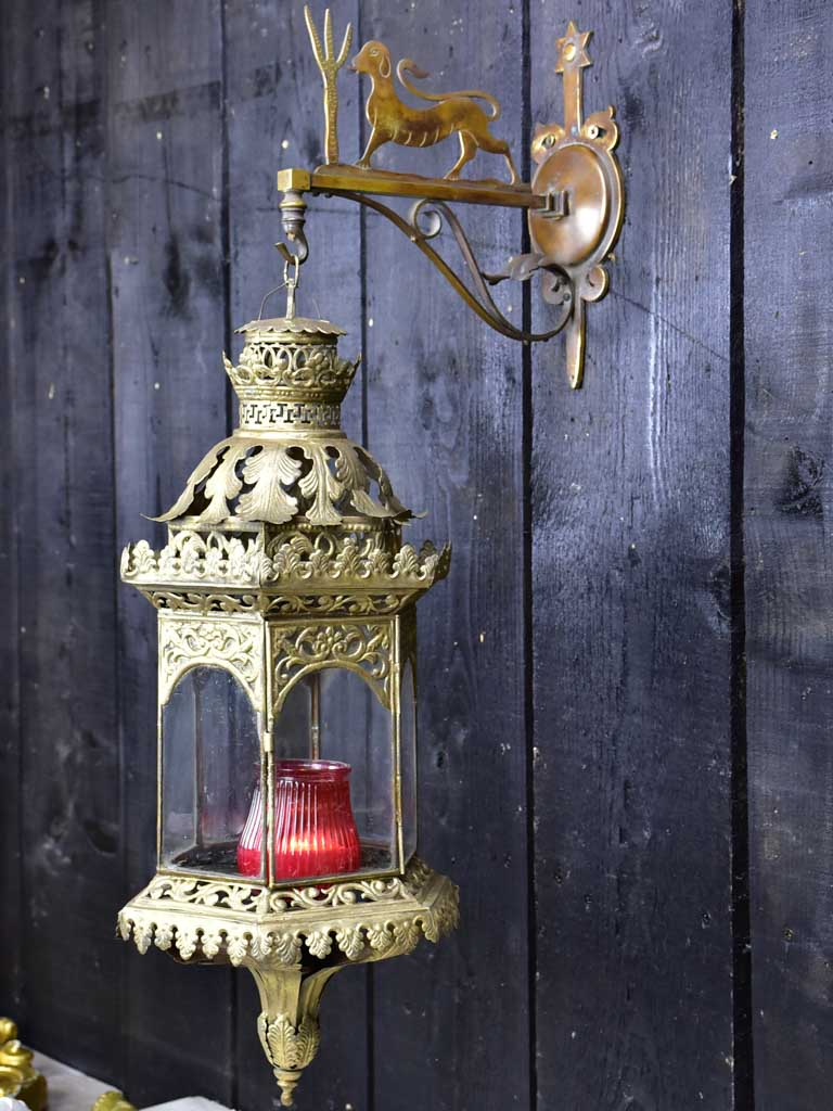 Napoleon III French lantern and bracket