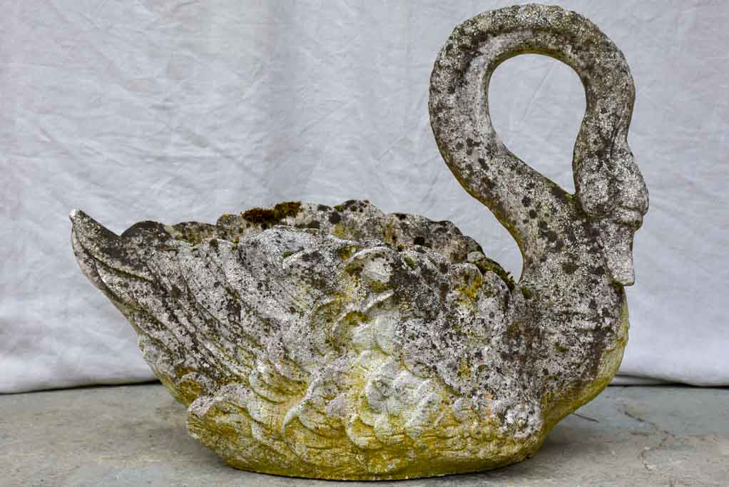 Early 20th Century French swan planter - large