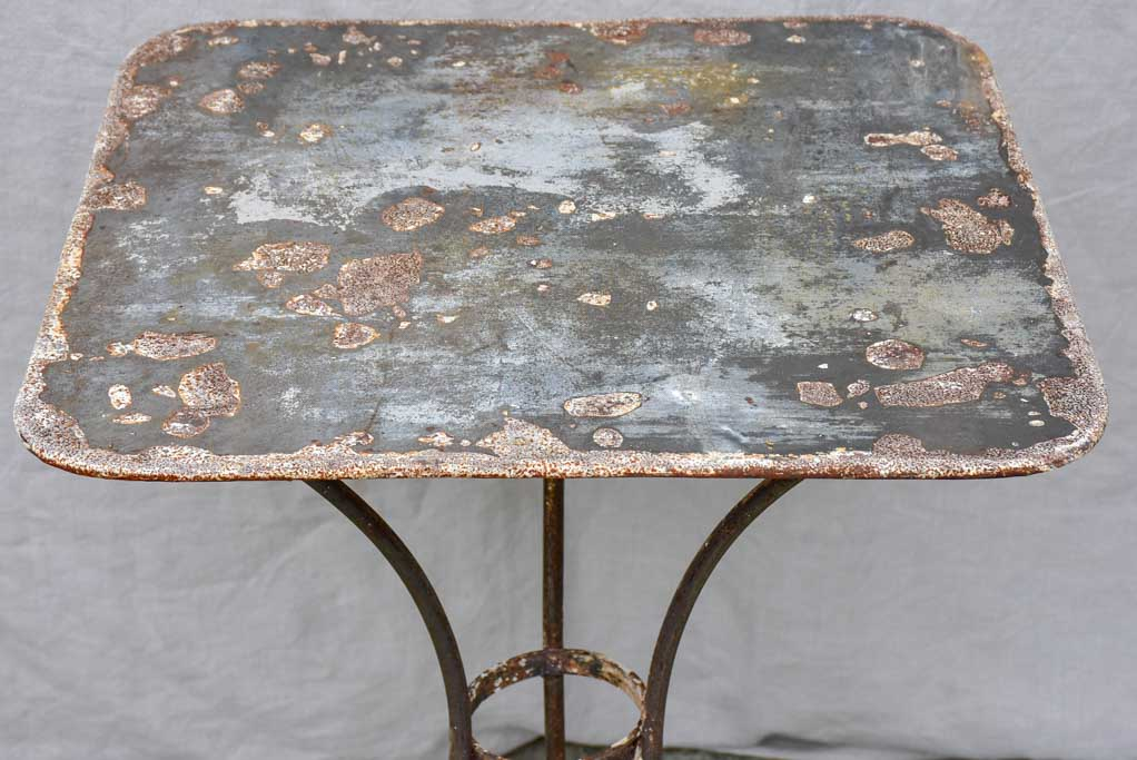 Antique French garden table - square