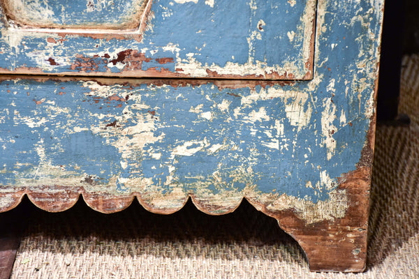 Pair of French buffets with blue patina