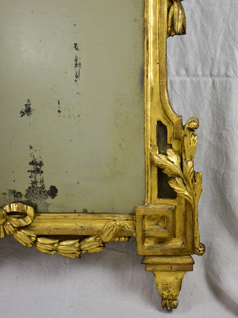 "Rare large 18th Century Louis XV/XVI mirror with gilt wood frame 63¾"" x  38¼"""