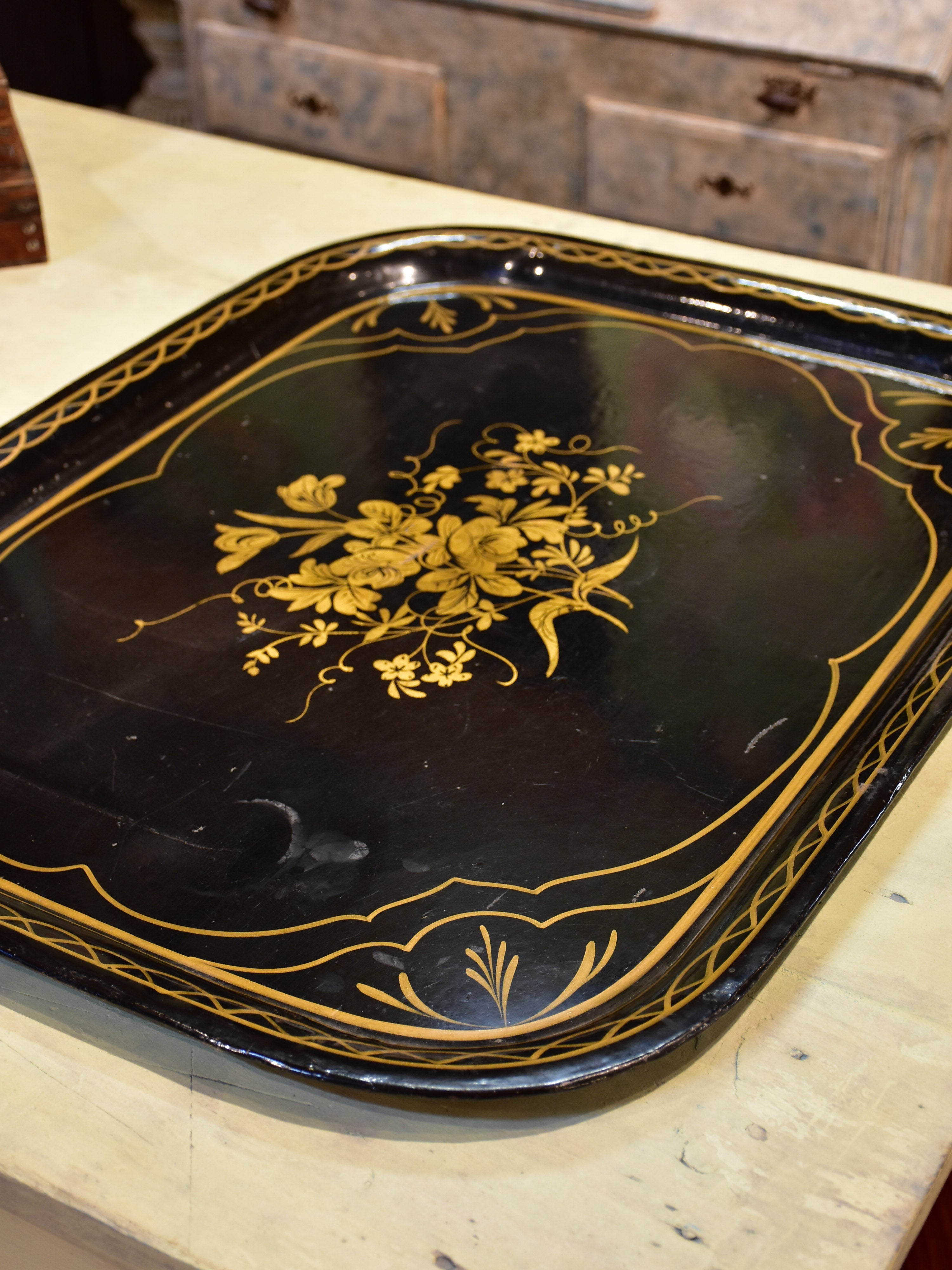 Antique Napoleon III French tole tray
