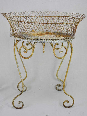 Early 20th Century French plant stand, iron and wire work 29½ x 23¾""""
