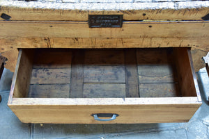 Antique French butcher's block
