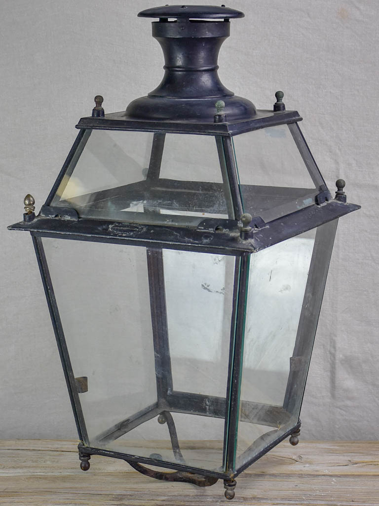 Large 19th Century French lantern - black 27½""