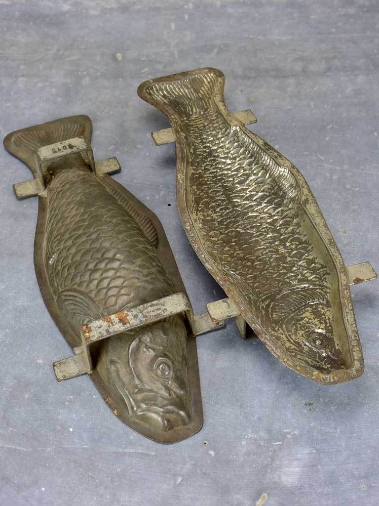 Vintage French chocolate mold - fish
