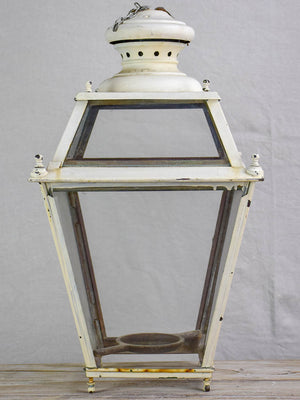 Large 19th Century French lantern - white 22¾""