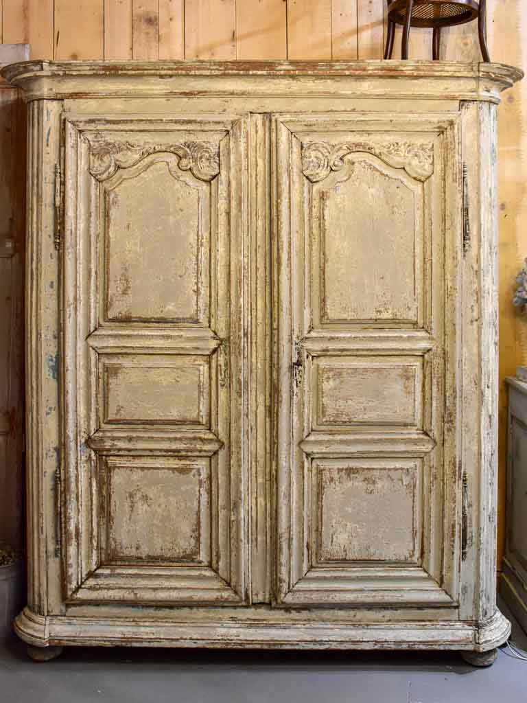 18th Century French armoire with patina finish
