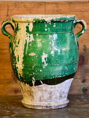 Antique Italian green glazed pot