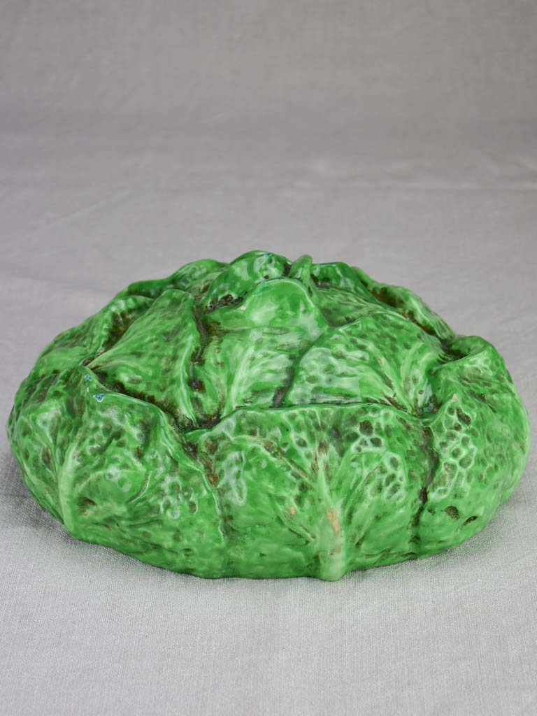 Early twentieth century French Barbotine cabbage 11½""