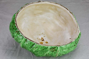 RESERVED Early twentieth century French Barbotine cabbage 11½""