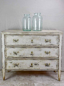 19th Century three door commode with crackled paint finish 43¾""