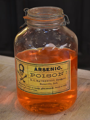 French apothecary glass bottles – arsenic and potion