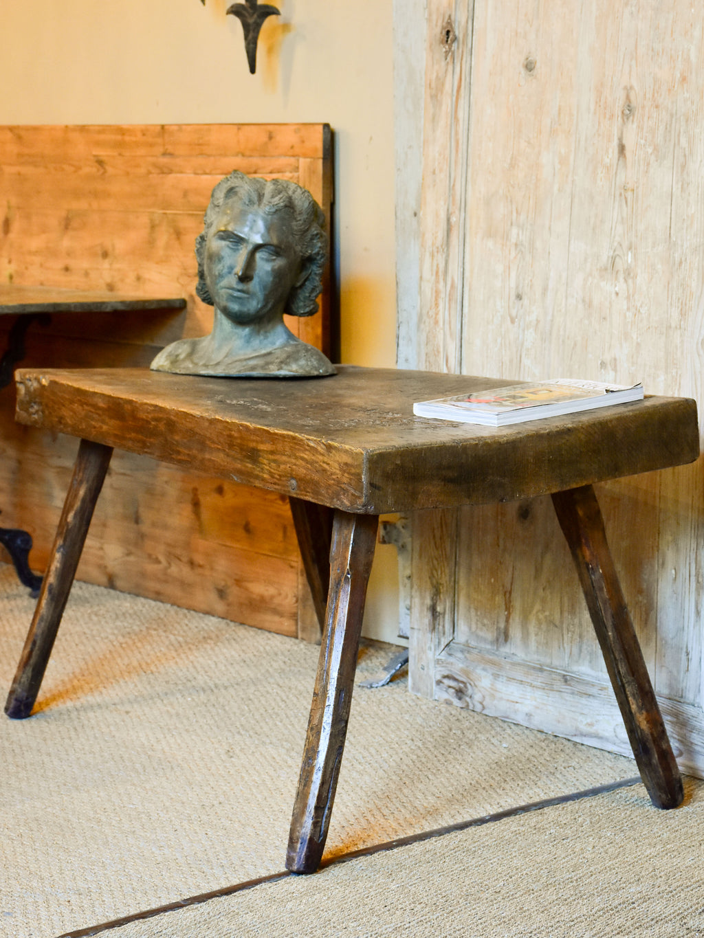 Antique French farm table / side table