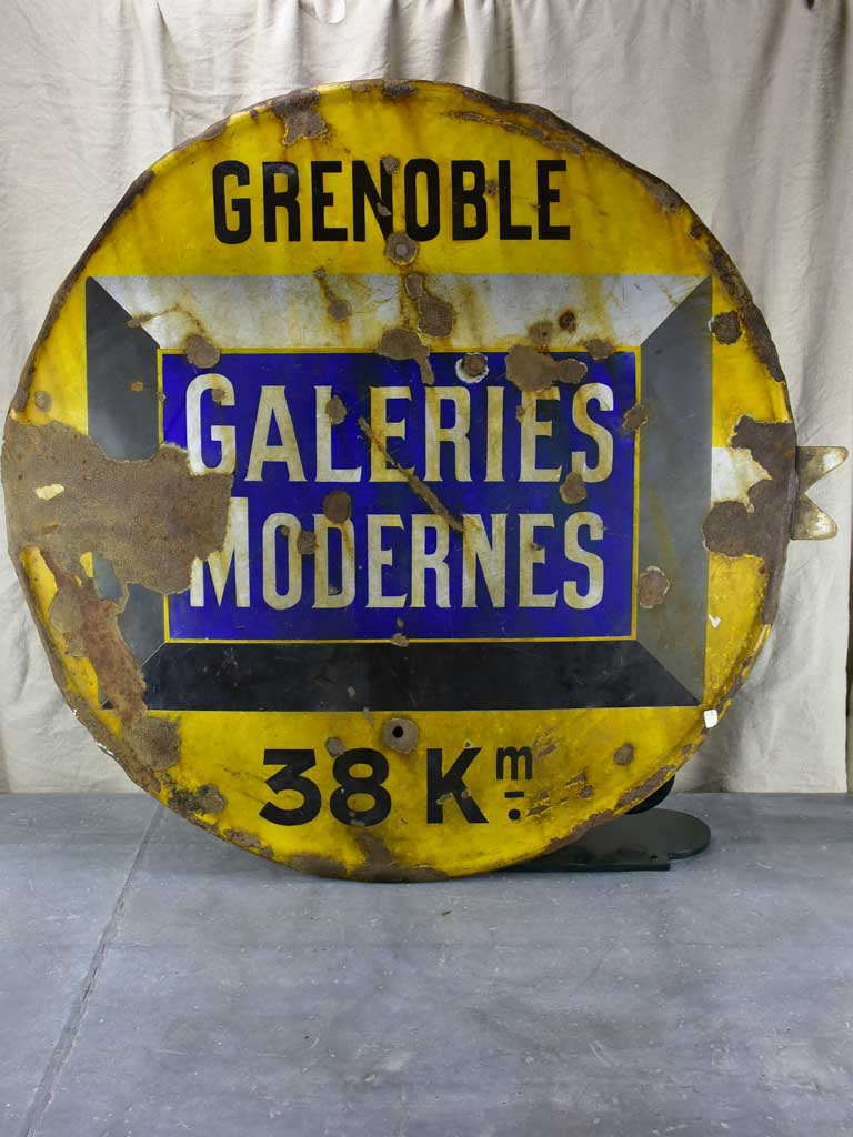 Antique French road sign