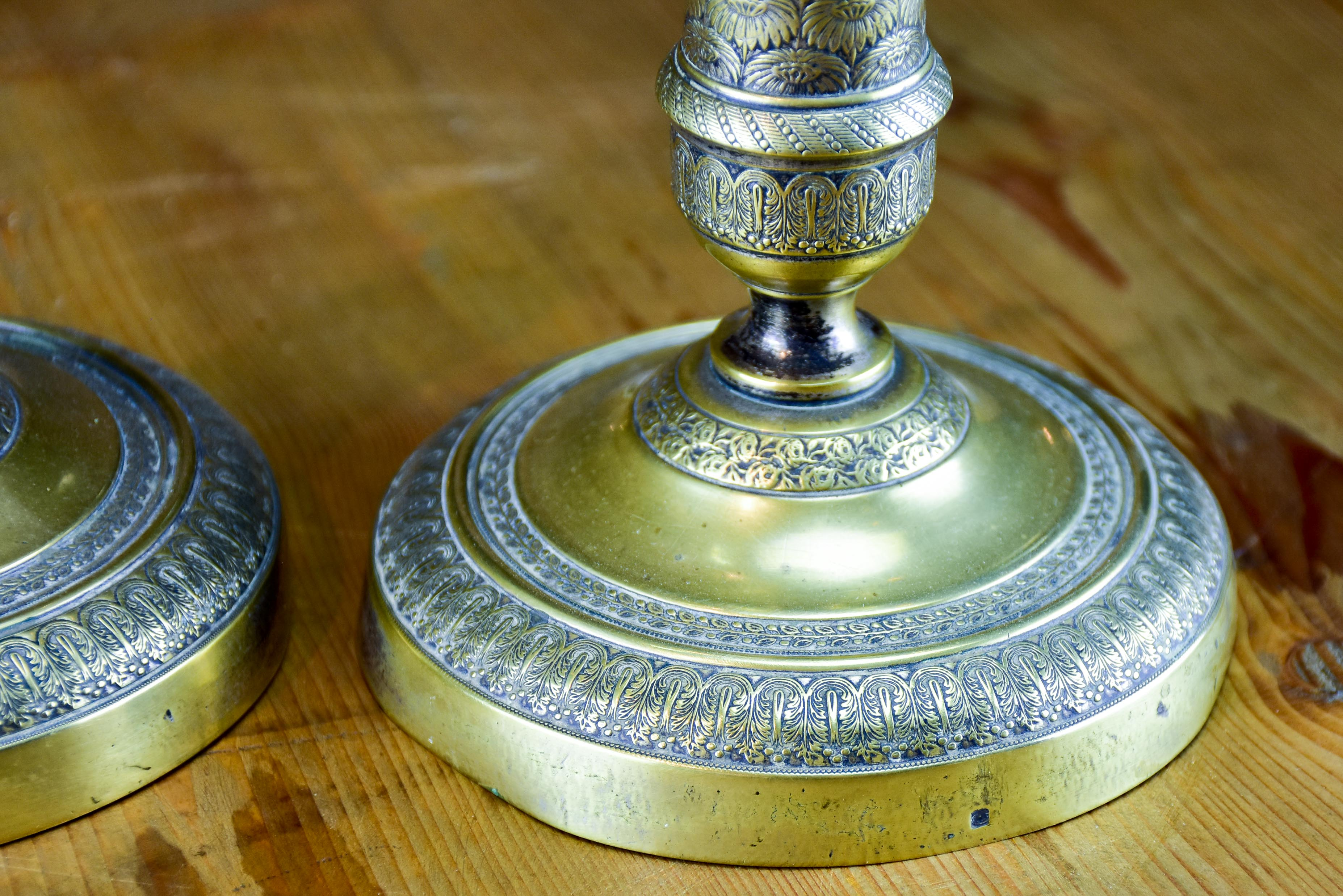 Pair of classic antique French candlesticks