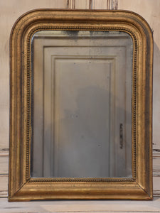 Petite 19th century Louis Philippe mirror with gilt frame
