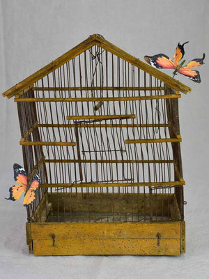 Rustic French birdcage from the early 20th century