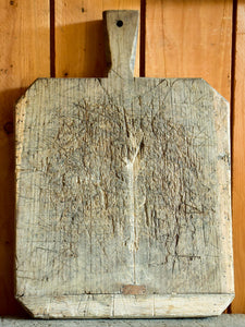 Antique French cutting board with chamfered corners