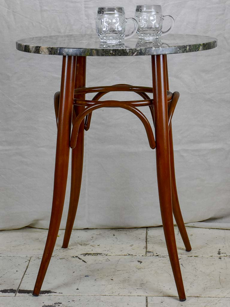 Thonet style bistro table with granite top