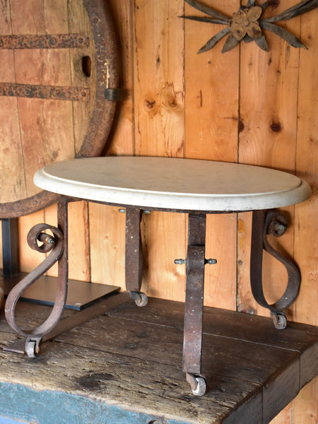 Antique French marble butcher's display table