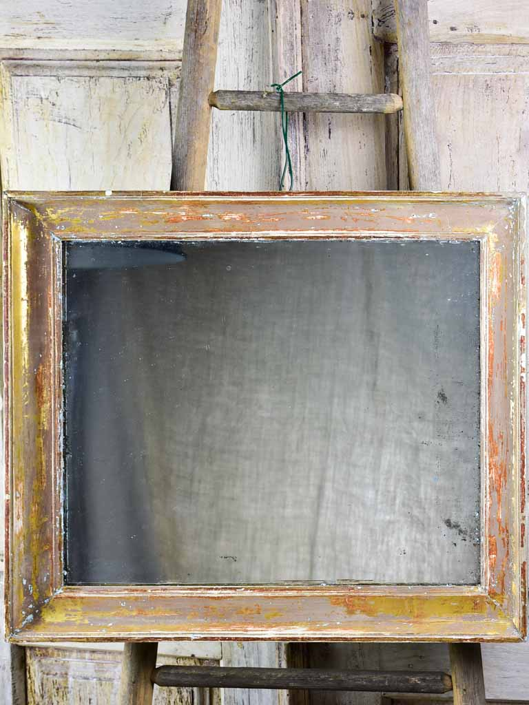 "19th Century French gilded mirror - rectangular 28¼"" x 24"""
