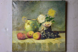 19th Century still life painting - signed 20 ¾'' x 20""
