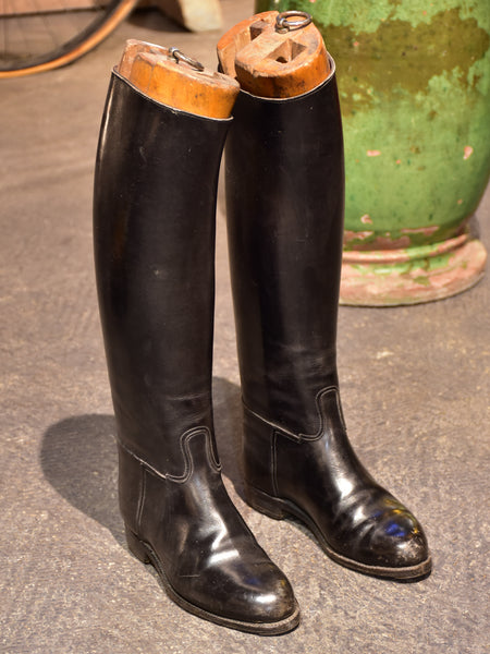 Antique French riding boots - ladies / childrens