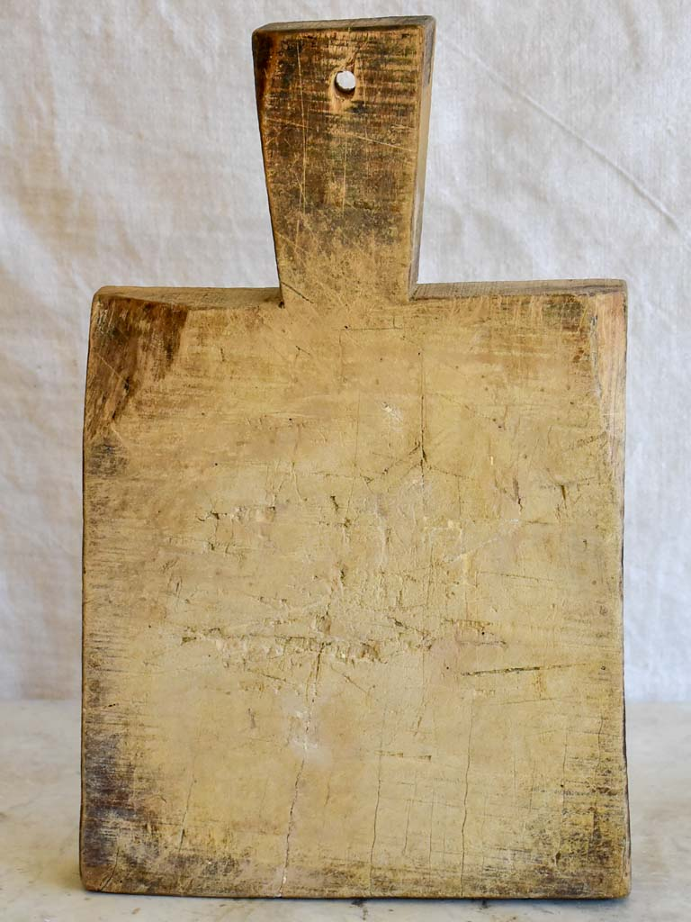 "Small antique French cutting board - very worn 9½"" x 15¾"""