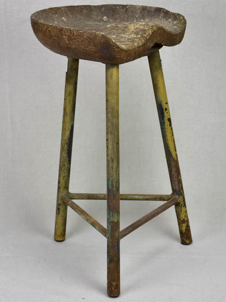 Rustic mid century stool from an atelier