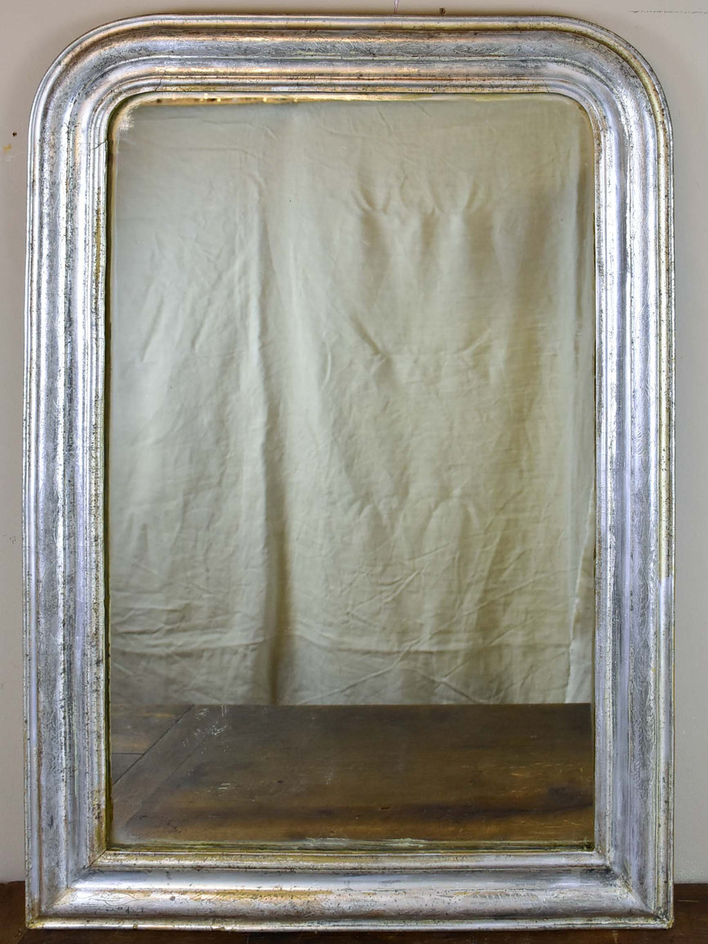 19th Century Louis Philippe mirror with silver frame