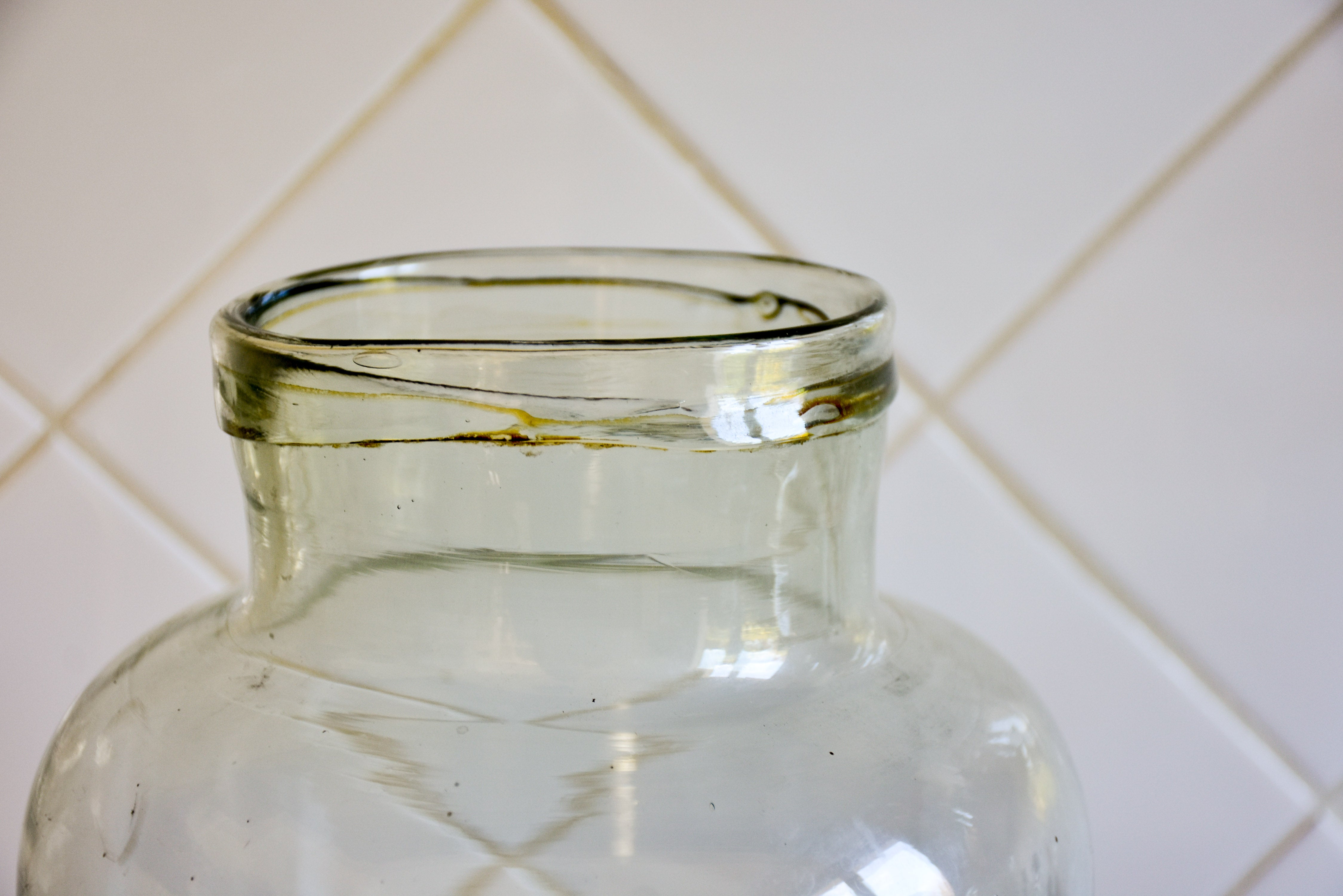 Collection of three very large vintage glass jars