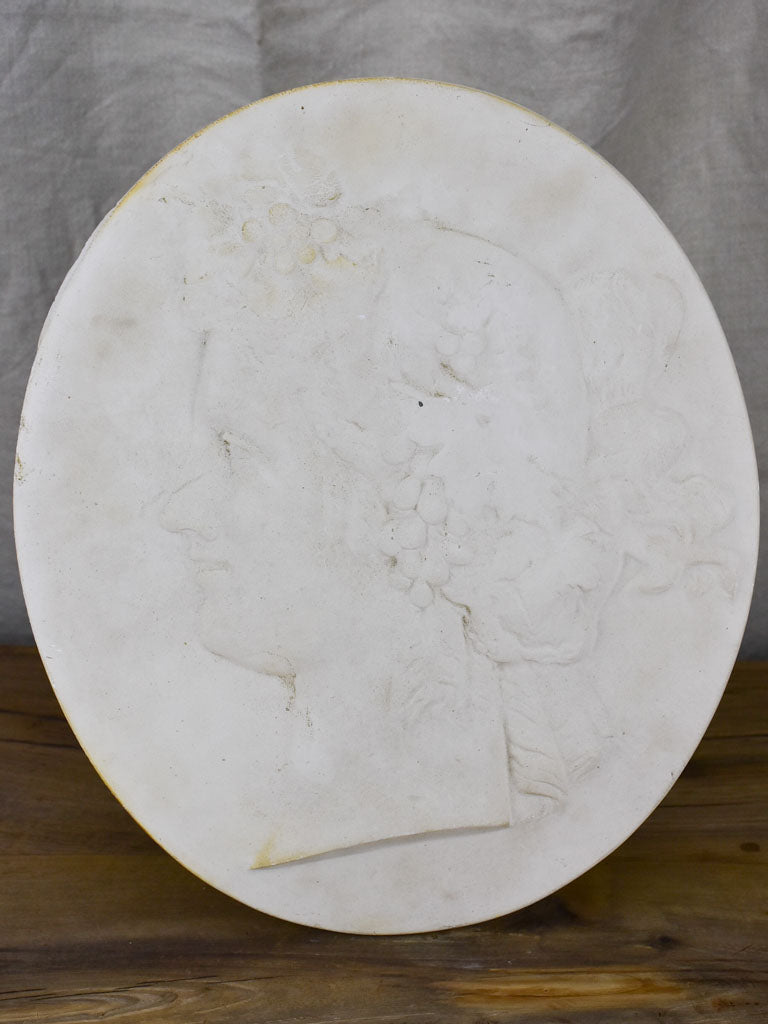Antique French plaster medallion