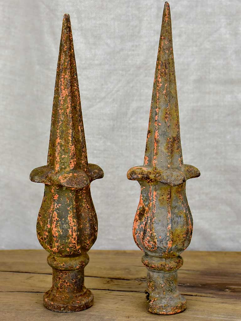 Pair of 19th Century French fence points - cast iron