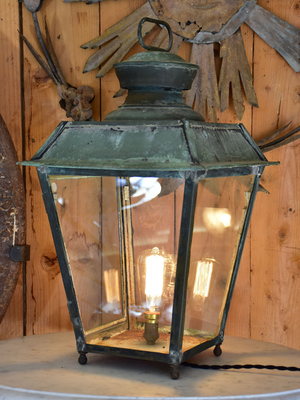 Antique French lantern - Leon Luchaire Paris