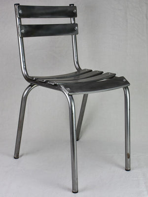 Pair of stackable mid century metal chairs (20 available)