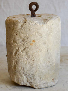 Antique French stone counterweight - cylindrical