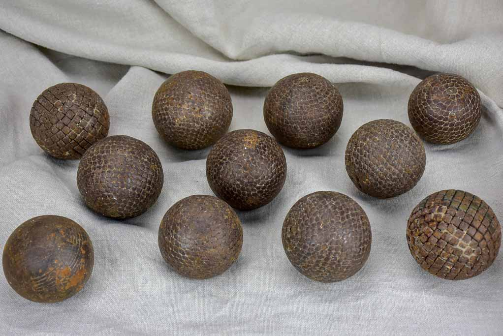Collection of 11 19th Century French petanque balls
