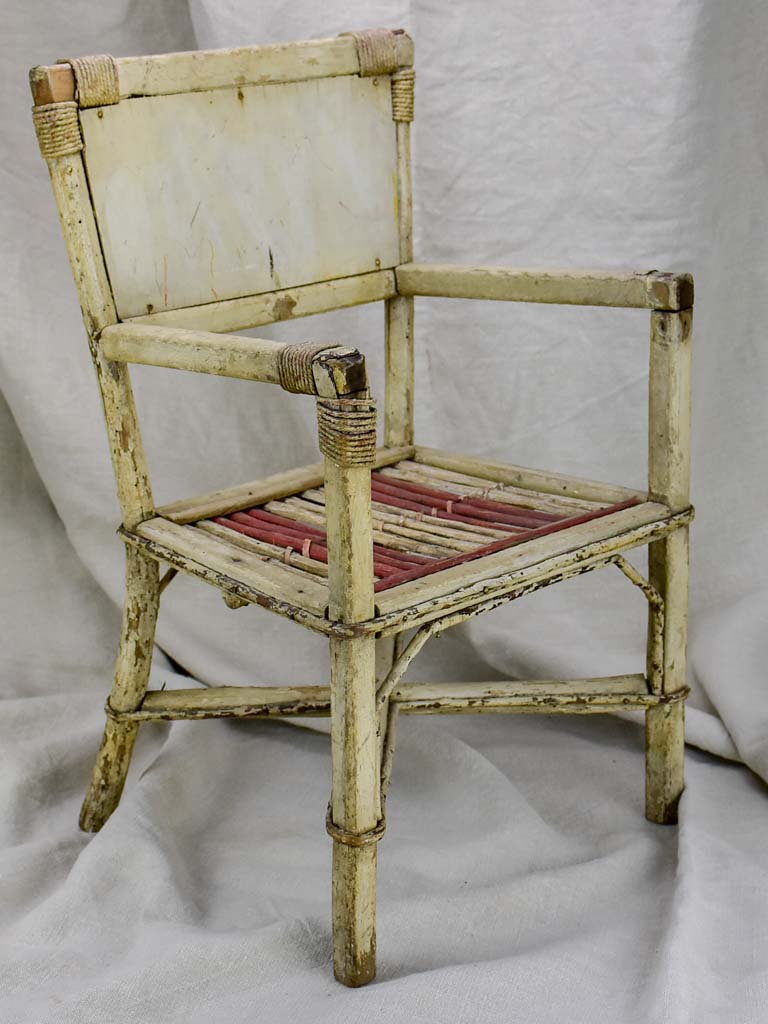 Antique French child's armchair