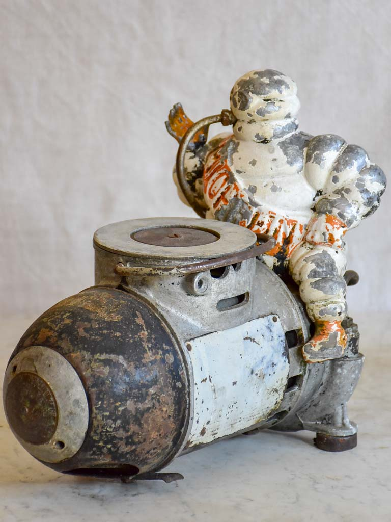 Early 20th Century French Michelin man air compressor