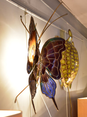 Vintage wall sconce - butterfly