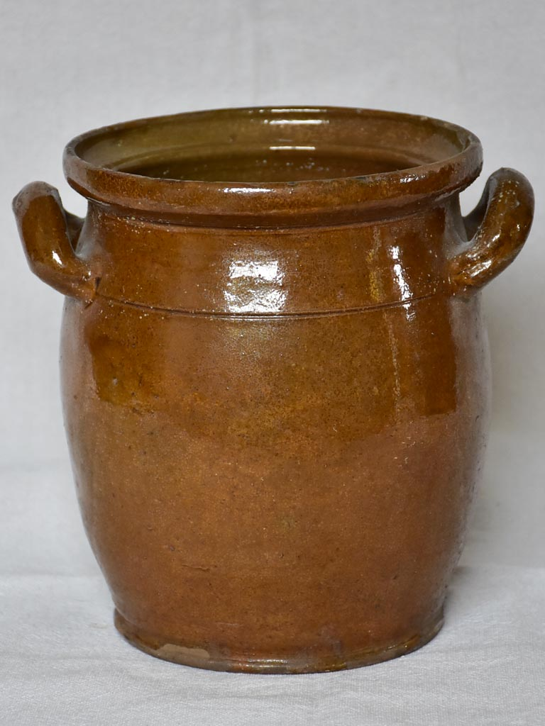 Antique French sandstone preserving pot from Savoy 8""