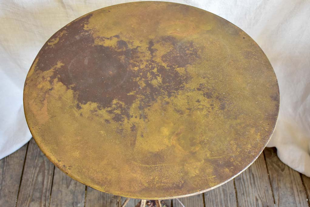 Antique French riveted 'Eiffel' garden table