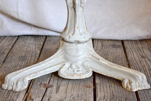 Art Nouveau bistro table with light grey patina