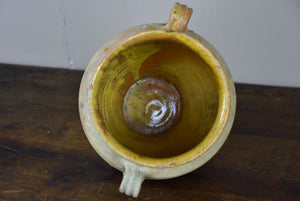 Antique French confit pot - terracotta 9 ¾''