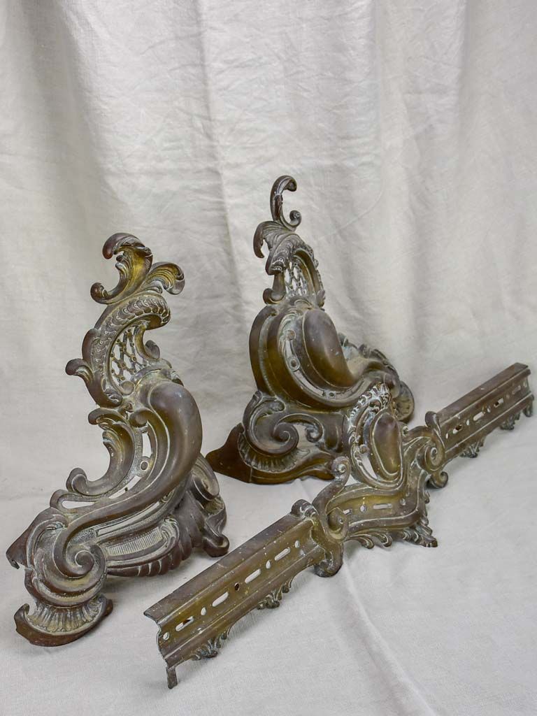 Antique French Regency style fireplace guard