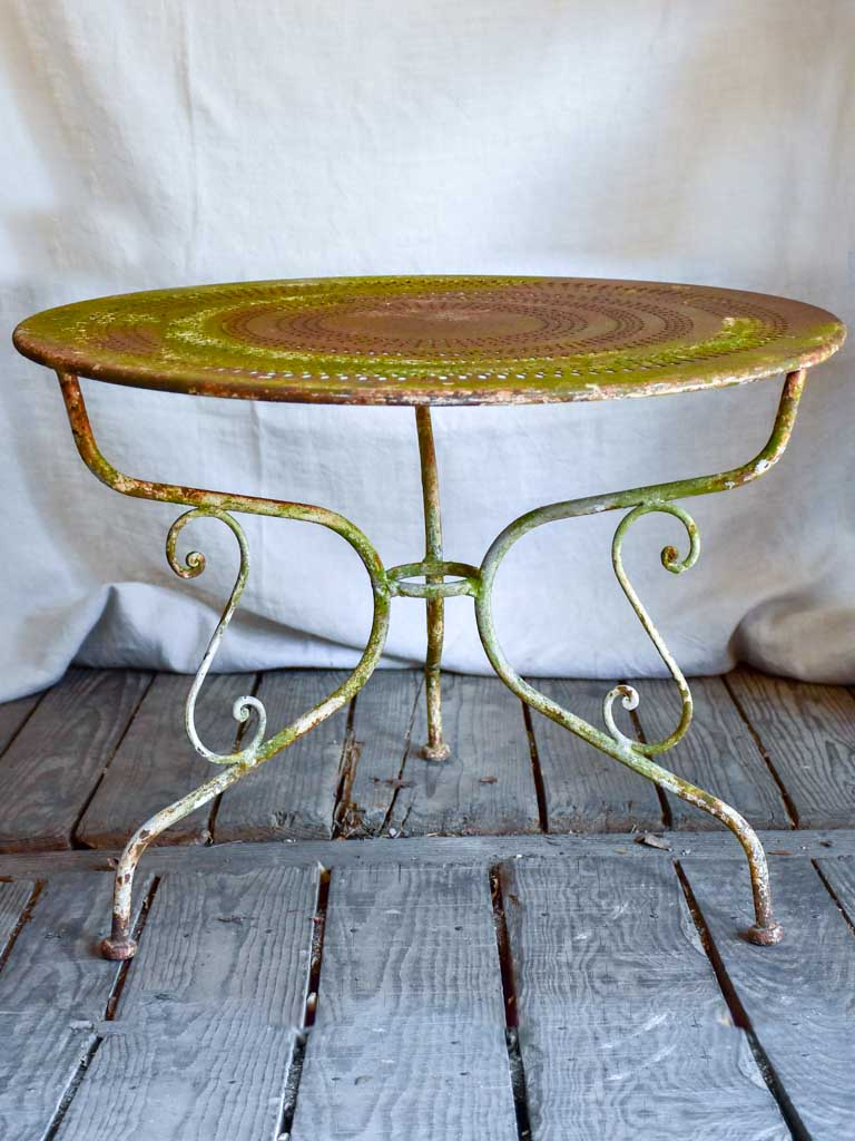 Low antique French garden table / coffee table / children's garden table 27¼""