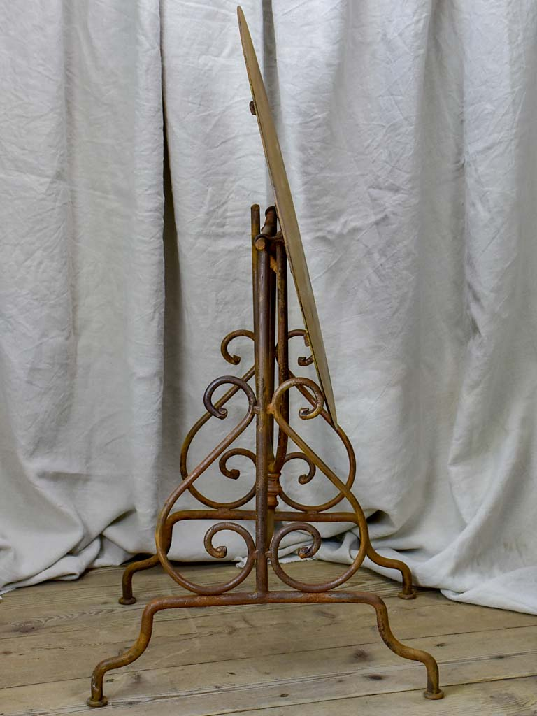Antique French iron vigneron's table