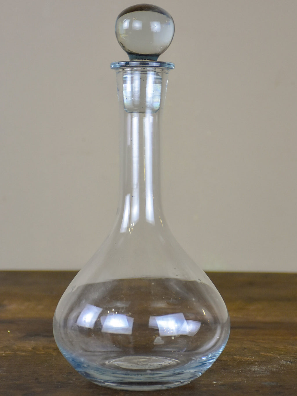 Vintage French wine decanter with glass stopper